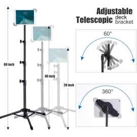 iPad and mobileTripod Stand, Foldable Floor Tablet Stand compitable with 4.7 inch to 13inch