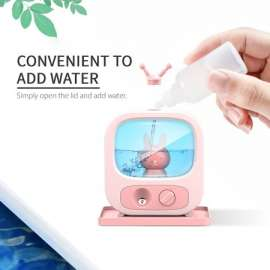 TV Shaped Night Light  Colorful Mist Humidifier Diffuser - Pink