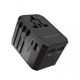 Powerology 45W Universal Travel Adapter - Black