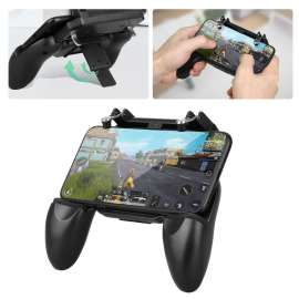 Mobile Phone Game Controller Gamepad Joystick Fire W10 Trigger for PUBG / Call of Duty - Black
