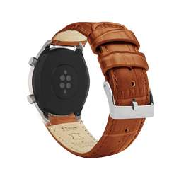 Galaxy Watch S3 & Huawei Watch GT& GT2 Leather Band - Brown (22mm)