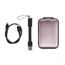 Momax mini 5 External Battery 10000mAh with Lightning Cable - Rose Gold