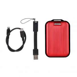 Momax Mini 5 External Battery 10000mAh with Lightning Cable (Red) (VPD0059)