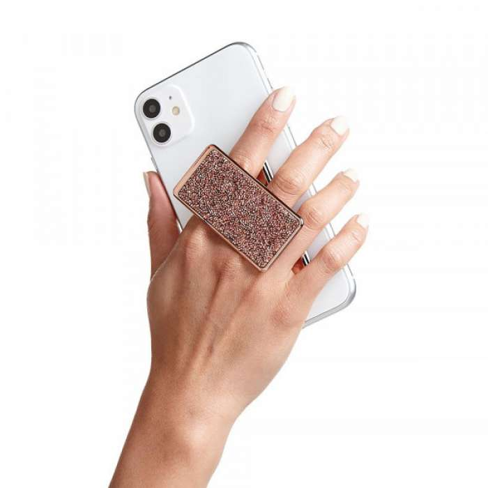 Handl Stick Phone Grip & Stand - Crystal Rose Gold