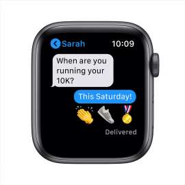 Apple Watch SE GPS 40mm Space Gray Aluminium Case with Sport Band Black