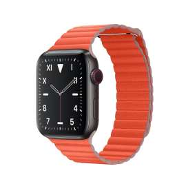 LEATHER LOOP STRAP FOR APPLE WATCH 42/44mm - Orange