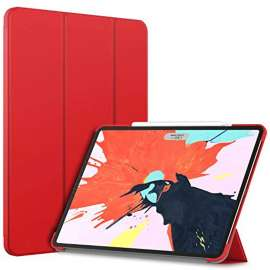 Devia Leather Case with Pencil Slot for ipad Pro12.9(2020) Red