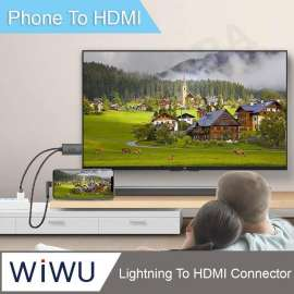 WIWU LIGHNTING HDTV Adapter Plug & Play for Apple-iOS Smartphones 2m - Black