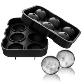 Flexible Silicone Ice Ball Maker 6 Mold Tray