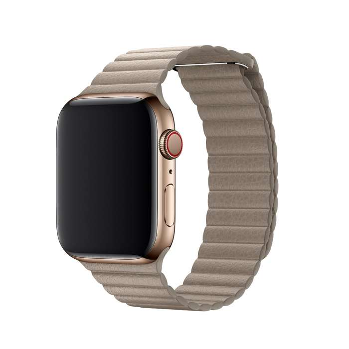 LEATHER LOOP STRAP FOR APPLE WATCH 42/44mm - Stone