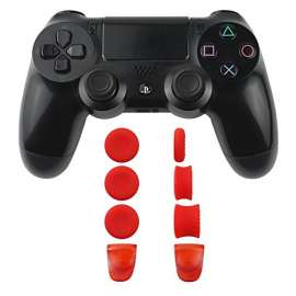 Woot Analog Caps Aim speed Triggerd Buttons for PS4 / PS5 - Red