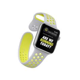 Apple Watch Sport Silicon Bands - Neon Grey