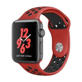 Apple Watch Sport Silicon Bands - Red/Black