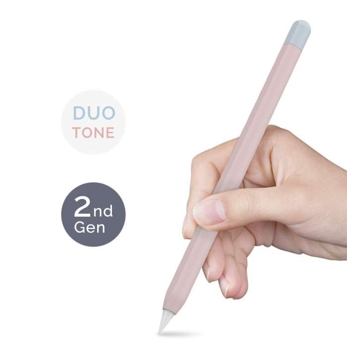 AHASTYLE Duotone Case Silicone Skin Apple Pencil 2nd Gen - Pink, Light Blue