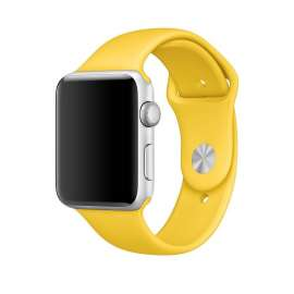 SILICON STRAP FOR APPLE WATCH - YELLOW