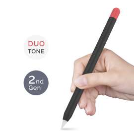 AHASTYLE Duotone Case Silicone Skin Apple Pencil 2nd Gen - Black, Red