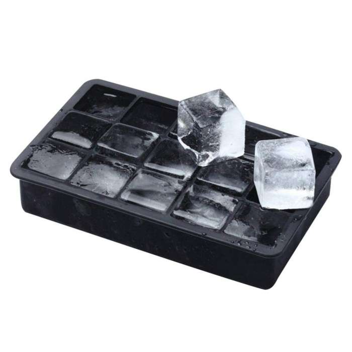 Flexible Silicone Ice Cude Maker 15 Mold Tray