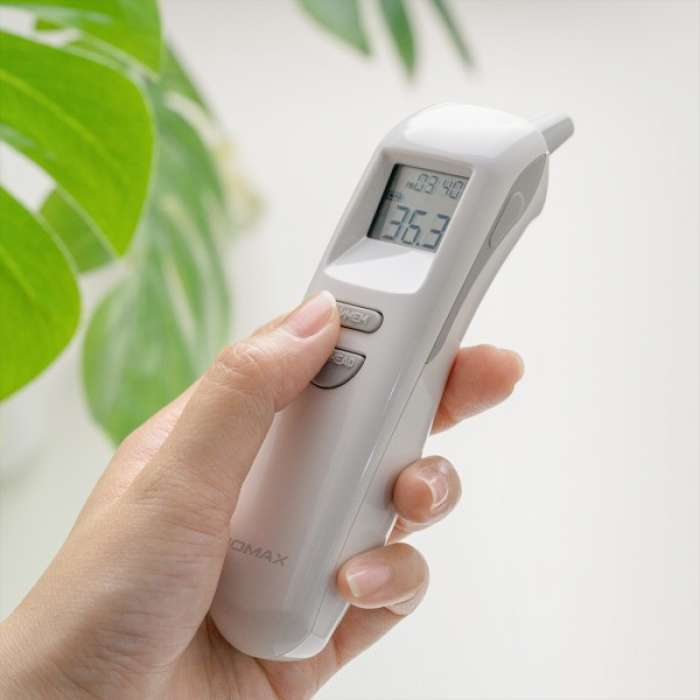 Momax 1-Health Pro Non-Touch Forehead / Ear Infrared Thermometer - White