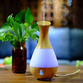 Aroma Humidifier Wood With 7 Colorful Light - AJ-219