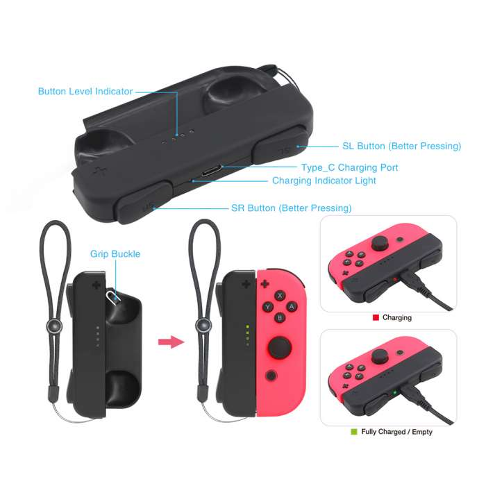 Dobe Mini Charging Dock Charger for Nintendo Switch Joy-Con