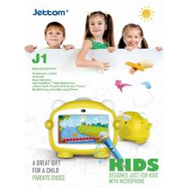 JETTOM J1 Android Tablet 7 Inch - Yellow
