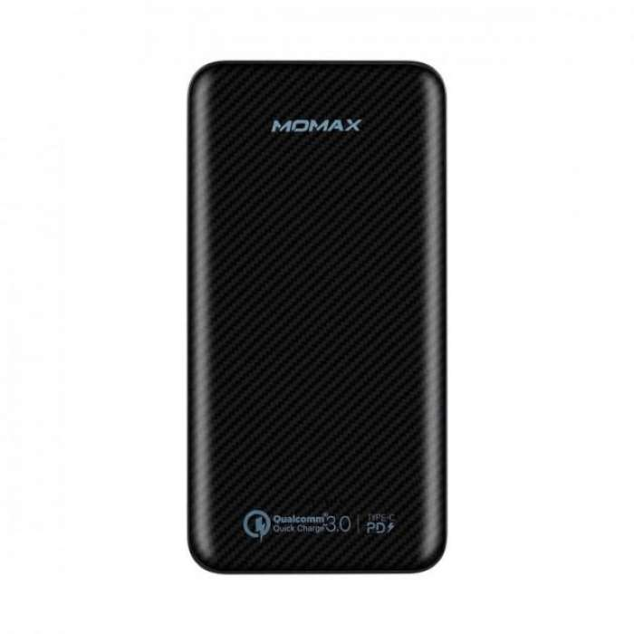 Momax iPower Minimal PD Quick Charge External Battery Pack 10000mAh - Black (IP65D)