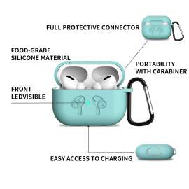 Just Must AirPods Pro Soft Silicone Full Protective Case - Teal