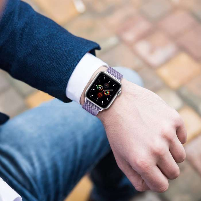 Apple Watch Mesh Smooth Stainless Steel Strap - Lavender