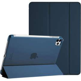 Devia Leather Case with Pencil Slot for ipad Pro12.9(2020)Blue