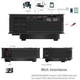 LED projector Entertainment Projector Wifi Ready