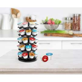 Coffee Pod Carousel Holder Organizer Compatible with 40 Keurig K Cup Pods
