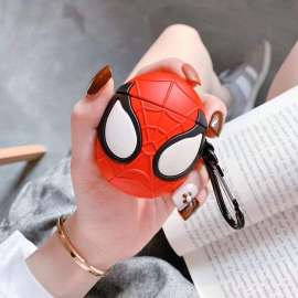 AirPods Case Soft Silicone Shockproof Cover - 3D Shape Spiderman