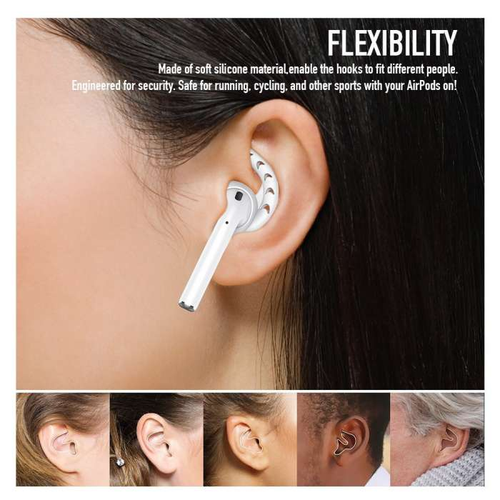 AHASTYLE  AirPods & Earpods Ear Hooks Silicone - White