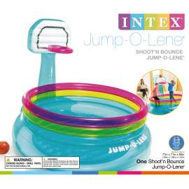 Intex Shoot N Bounce Jump O Lene Indoor Toddler Kids Basketball  48265EP