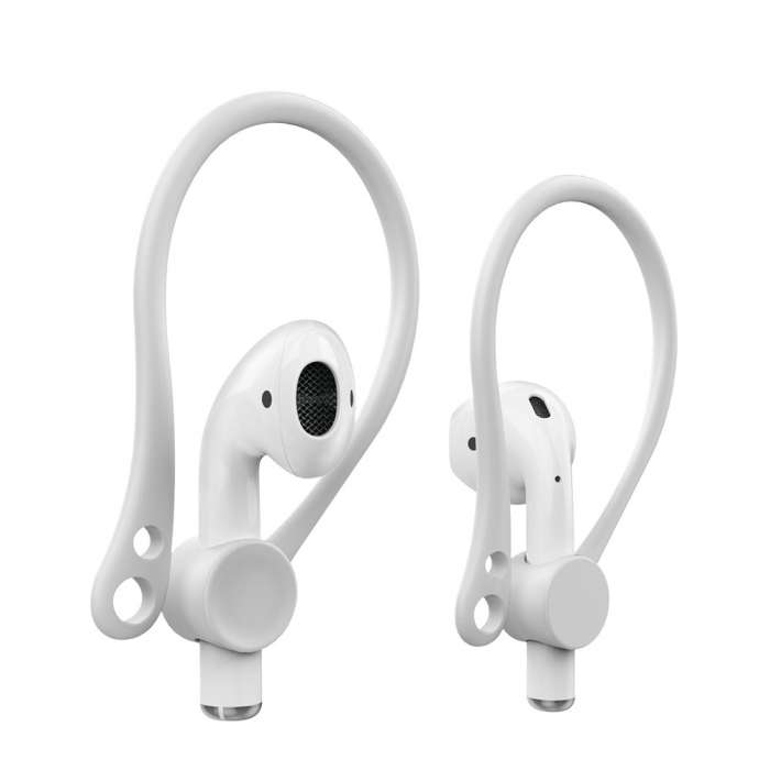 AhaStyle EarHooks for Apple Airpods Perfect Fit - White