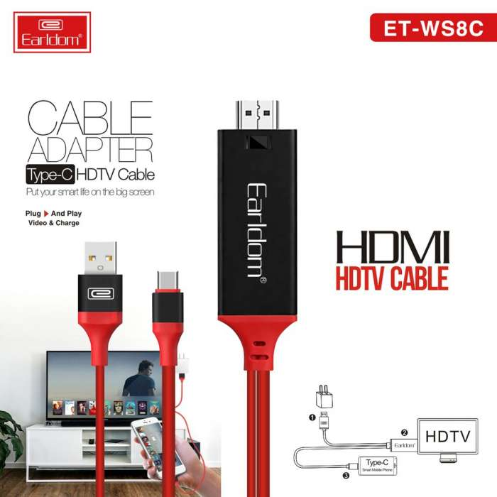 Earldom HDMI HDTV CABLE ADAPTOR TYPE C