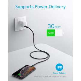 Anker PowerLine + II USB-C to Lightning Cable (0.9m/3ft) - Black