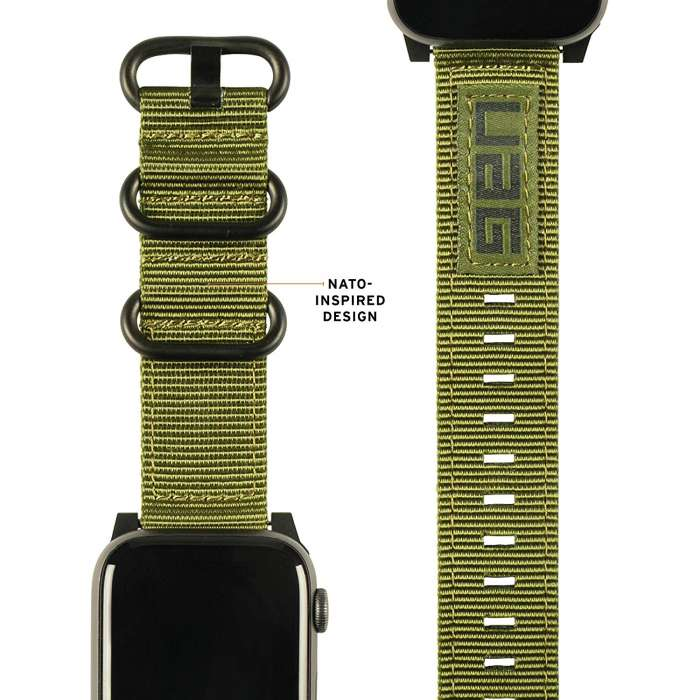 UAG - Nato Strap for Apple Watch 44/42 mm - Olive Drab