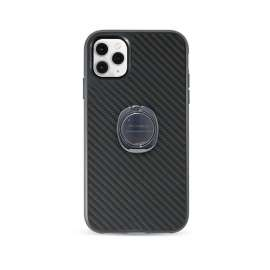 PCT Fashion Shock Proof Protective Case with Ring Holder For iPhone 11 Pro Max - Carbon Fibre Case