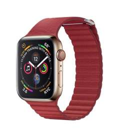 LEATHER LOOP STRAP FOR APPLE WATCH 38/40/42/44mm - Red