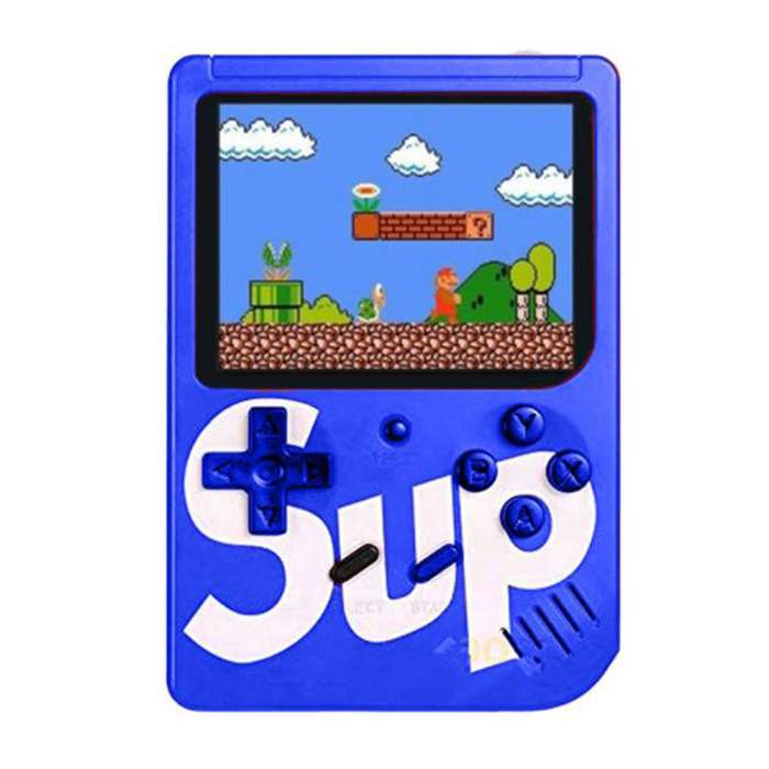 Classic Retro SUP 400 in 1 Game Console with Rechargeable Battery - Blue