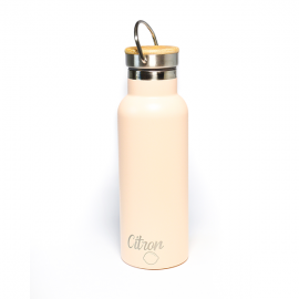 Citron 500ml double insulated Water bottle including 2 lids and bumper‐ Peach