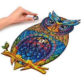 Charming Owl Wooden Puzzle A3