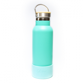 Citron 500ml double insulated Water bottle including 2 lids and bumper‐ Green