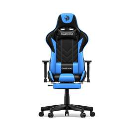 Gamer King Gaming Chair With Footrest Support - Black/Blue