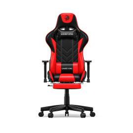Gamer King Gaming Chair With Footrest Support - Black/Red