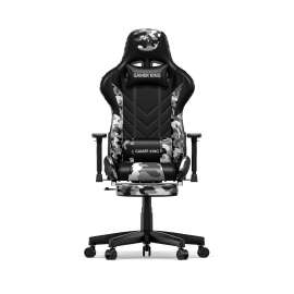 Gamer King Gaming Chair With Footrest Support - Black/Camo