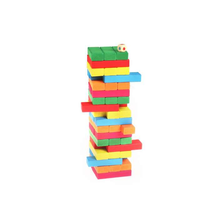 Wooden Blocks 54, with 4 Dices