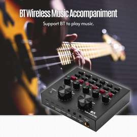 Multifunctional Live Sound Card Mixer