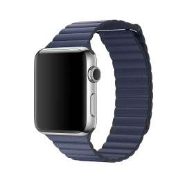 LEATHER LOOP STRAP FOR APPLE WATCH 38/40/42/44mm - Blue